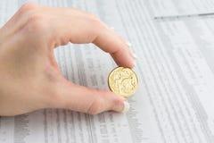 Αυστραλιανό νόμισμα Στοκ Φωτογραφία