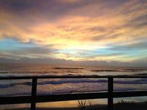 Αυστραλιανό σούρουπο πέρα από τον ωκεανό Στοκ φωτογραφία με δικαίωμα ελεύθερης χρήσης