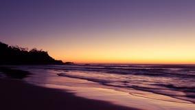 Αυστραλιανό τοπίο στο λυκόφως Στοκ Εικόνες