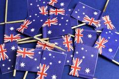 Αυστραλιανό υπόβαθρο σημαιών Στοκ Εικόνα