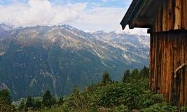 Αυστριακή καλύβα βουνών στοκ εικόνα