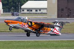 Αυστριακή Πολεμική Αεροπορία Ã-ã-sterreichische Luftstreitkräfte Saab 105 αεριωθούμενα αεροσκάφη εκπαιδευτών Στοκ Φωτογραφίες