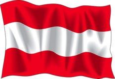 αυστριακή σημαία Στοκ εικόνα με δικαίωμα ελεύθερης χρήσης