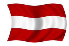 αυστριακή σημαία Στοκ Φωτογραφίες