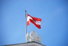 αυστριακή σημαία Στοκ φωτογραφία με δικαίωμα ελεύθερης χρήσης