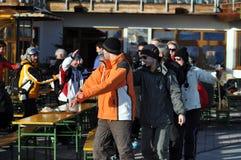 αυστριακοί σκιέρ συμβαλλόμενων μερών ορών Στοκ Εικόνα