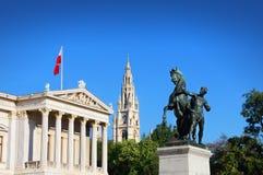 Αυστριακό κτήριο του Κοινοβουλίου, Βιέννη, Αυστρία Στοκ εικόνα με δικαίωμα ελεύθερης χρήσης