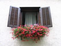 αυστριακό παράθυρο στοκ φωτογραφίες