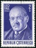 ΑΥΣΤΡΙΑ - 1975: παρουσιάζει πτώση του 1873-1925, συνθέτης του Leo Στοκ Εικόνες