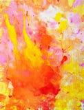 Ρόδινη και πορτοκαλιά αφηρημένη ζωγραφική τέχνης Στοκ Εικόνες
