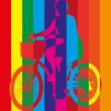 Διάνυσμα ποδηλάτων οδήγησης ποδηλάτων γύρου Στοκ Εικόνες