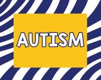 Αυτισμός γραψίματος κειμένων γραφής Έννοια που σημαίνει τη δυσκολία με την αλληλεπίδραση και διαμόρφωση των υποθέσεων με άλλη παρ διανυσματική απεικόνιση