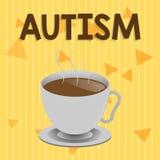 Αυτισμός κειμένων γραφής Έννοια που σημαίνει τη δυσκολία με την αλληλεπίδραση και διαμόρφωση των υποθέσεων με άλλη παρουσίαση ελεύθερη απεικόνιση δικαιώματος