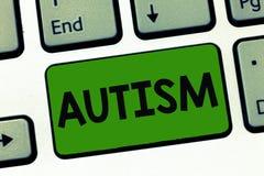 Αυτισμός κειμένων γραψίματος λέξης Επιχειρησιακή έννοια για τη δυσκολία με την αλληλεπίδραση και διαμόρφωση των υποθέσεων με άλλη στοκ εικόνα με δικαίωμα ελεύθερης χρήσης