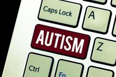 Αυτισμός κειμένων γραψίματος λέξης Επιχειρησιακή έννοια για τη δυσκολία με την αλληλεπίδραση και διαμόρφωση των υποθέσεων με άλλη στοκ φωτογραφία με δικαίωμα ελεύθερης χρήσης