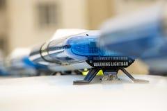 Αυτοκίνητα αστυνομικών που προειδοποιούν lightbars Στοκ φωτογραφία με δικαίωμα ελεύθερης χρήσης