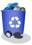 αυτοκίνητα δοχείων ανακύ& Στοκ εικόνα με δικαίωμα ελεύθερης χρήσης