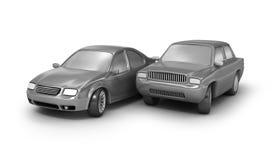 αυτοκίνητα δύο Στοκ Εικόνα
