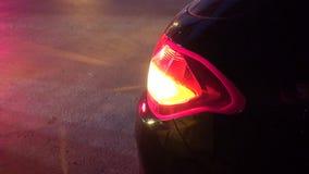 Αυτοκίνητα και σήμα στροφής απόθεμα βίντεο