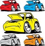 Αυτοκίνητα κινούμενων σχεδίων που τίθενται χρειαμένος στην επισκευή Στοκ Φωτογραφία