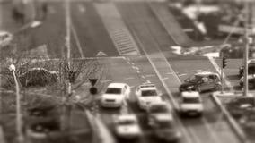 Αυτοκίνητα μετατόπισης Tilt†«στην κυκλοφορία, χρόνος-σφάλμα απόθεμα βίντεο