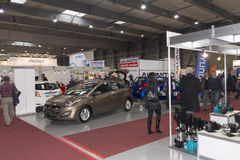 Αυτοκίνητα που παρουσιάζονται σε AquaTherm 2012 στην Πράγα Στοκ Φωτογραφίες
