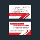 Αυτοκίνητα πρότυπα σχεδιαγράμματος καρτών επιχείρησης παροχής υπηρεσιών Δημιουργήστε τις επαγγελματικές κάρτες σας διανυσματική απεικόνιση