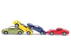 Αυτοκίνητα σε μια συντριβή αλυσίδων στοκ φωτογραφία με δικαίωμα ελεύθερης χρήσης