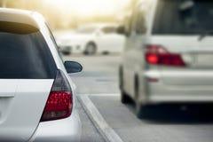Αυτοκίνητα στην οδική στάση για την κυκλοφοριακή συμφόρηση Στοκ Εικόνες