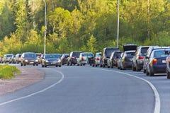 Αυτοκίνητα στη συνέχεια Στοκ Εικόνες