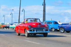 Αυτοκίνητα της Αβάνας, Κούβα Στοκ Φωτογραφίες