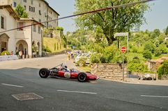 Αυτοκίνητα τύπου δεκαετίας του '60 στα ιστορικά Grand Prix 2017 του Μπέργκαμο Στοκ Εικόνα