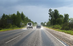 αυτοκίνητα δύο στοκ εικόνες