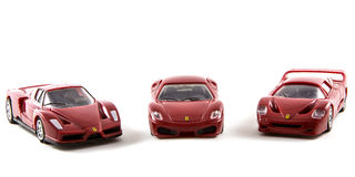 Αυτοκίνητα Ferrari παιχνιδιών Στοκ εικόνες με δικαίωμα ελεύθερης χρήσης
