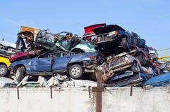 αυτοκίνητα junkyard Στοκ Φωτογραφίες