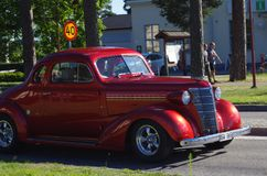 Αυτοκίνητα Oldtimer σε στο κέντρο της πόλης Rättvik, 30 06 2018 Στοκ εικόνα με δικαίωμα ελεύθερης χρήσης