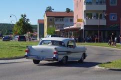 Αυτοκίνητα Oldtimer σε στο κέντρο της πόλης Rättvik, 30 06 2018 Στοκ φωτογραφίες με δικαίωμα ελεύθερης χρήσης