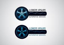 Αυτοκίνητες, υπηρεσίες αυτοκινήτων, διανυσματικό λογότυπο Στοκ φωτογραφία με δικαίωμα ελεύθερης χρήσης