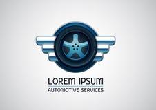 Αυτοκίνητες, υπηρεσίες αυτοκινήτων, διανυσματικό λογότυπο Στοκ Εικόνες