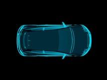 Αυτοκίνητο έννοιας ακτίνας X στο απομονωμένο μαύρο υπόβαθρο απεικόνιση αποθεμάτων