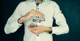 Αυτοκίνητο έννοιας χρημάτων και επιχειρήσεων Στοκ φωτογραφία με δικαίωμα ελεύθερης χρήσης