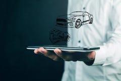 Αυτοκίνητο έννοιας χρημάτων και επιχειρήσεων Στοκ Εικόνες