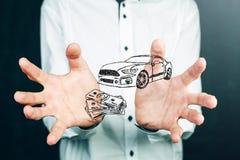 Αυτοκίνητο έννοιας χρημάτων και επιχειρήσεων Στοκ φωτογραφίες με δικαίωμα ελεύθερης χρήσης