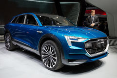 Αυτοκίνητο έννοιας Audi ε -ε-tron Quattro Στοκ φωτογραφίες με δικαίωμα ελεύθερης χρήσης