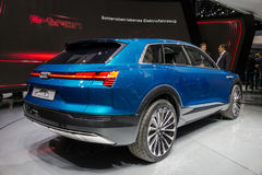 Αυτοκίνητο έννοιας Audi ε -ε-tron Quattro στοκ εικόνα