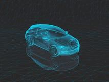 Αυτοκίνητο ακτίνας X σε τρισδιάστατο Στοκ φωτογραφίες με δικαίωμα ελεύθερης χρήσης