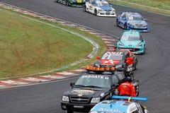 αυτοκίνητο ατυχήματος που συναγωνίζεται starostik Στοκ Εικόνες