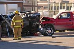 αυτοκίνητο ατυχήματος Στοκ Φωτογραφία