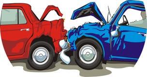 αυτοκίνητο ατυχήματος διανυσματική απεικόνιση