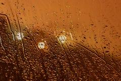 Αυτοκίνητο βροχής παραθύρων πτώσεων νερού Στοκ εικόνες με δικαίωμα ελεύθερης χρήσης